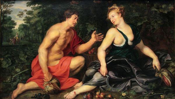 Vertumno y Pomona. Rubens. Madrid. Colección privada. Fuente Wikipedia