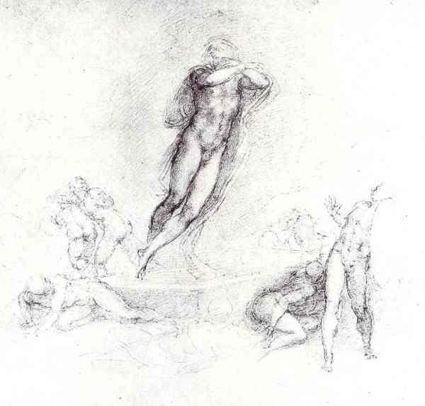 Cristo resucitando,Detalle. Miguel Ángel. c. 1526. British Museum.
