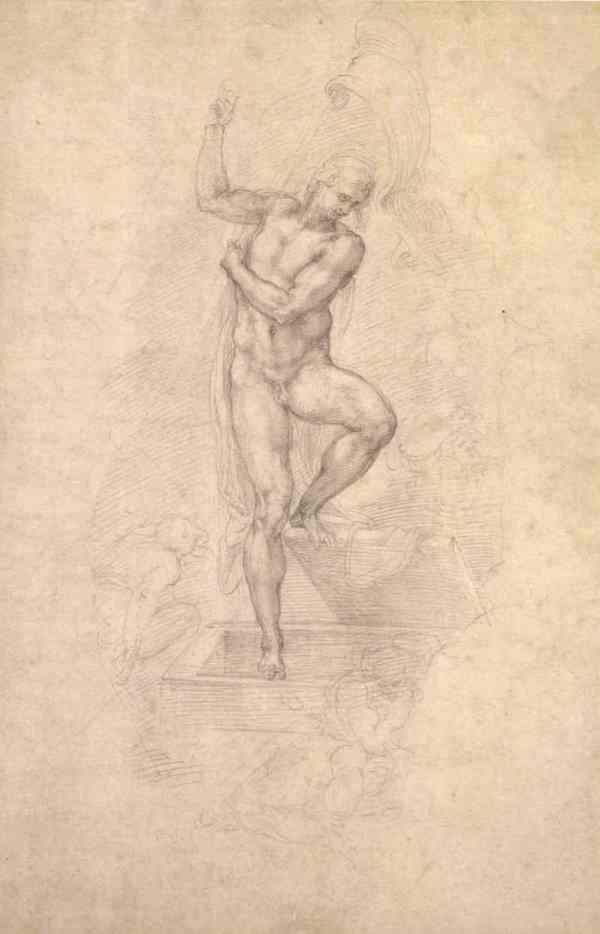 Resurrección de Cristo. Miguel Ángel. c. 1532. British Museum