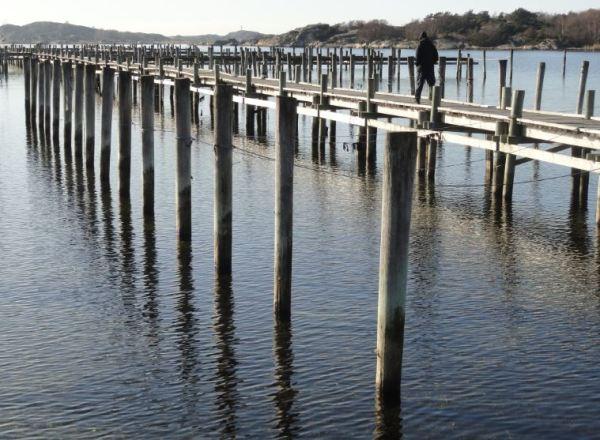 Pantalanes a la espera de los botes. Foto R.Puig