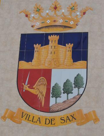 Sax. Escudo de la villa. Foto R.Puig