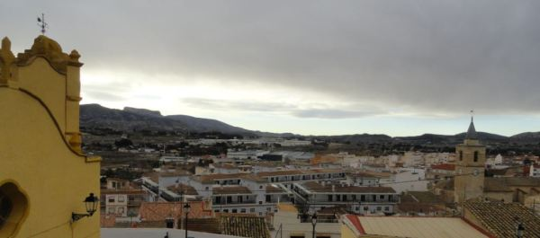 Sax. Panorama desde la ermita de San Blás.. Foto R.Puig