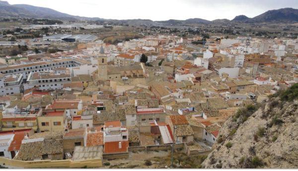 Sax. Panorama hacia el sudeste  desde el mirador sur de la peña del castillo. Foto R.Puig