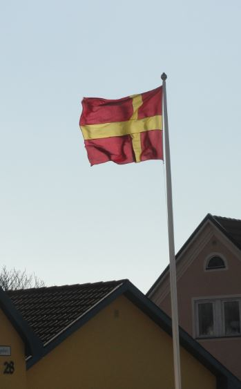 Bandera de Skane en Tomelilla. Foto R.Puig