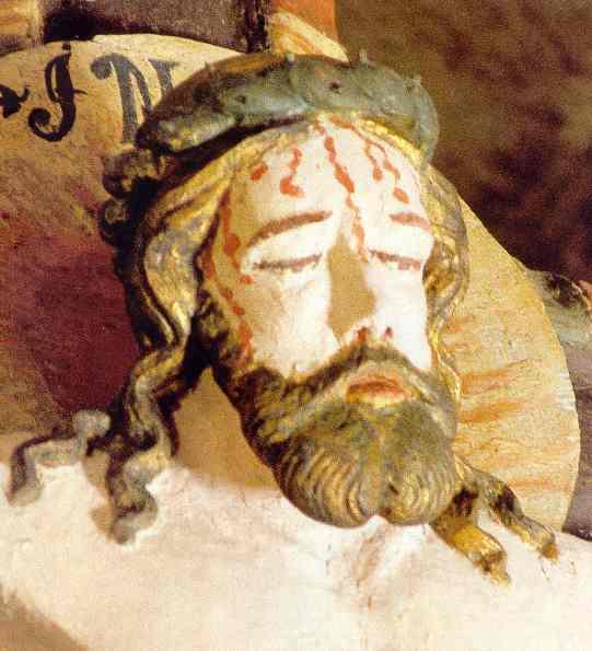Cabeza del crucifijo de la iglesia de Rone. Gotland. Artista de la escuela de Colonia. c.1340. Fuente Joanna Wolska