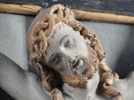 Iglesia de Löderup. Retablo del siglo XVIII. El crucificado. Foto R.Puig