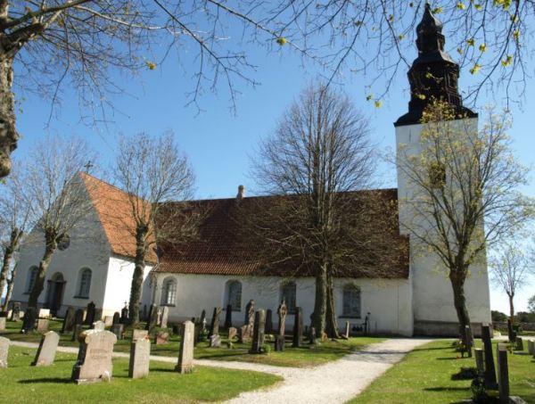 Iglesia y cementerio de Fårö en Gotland. Foto R.Puig
