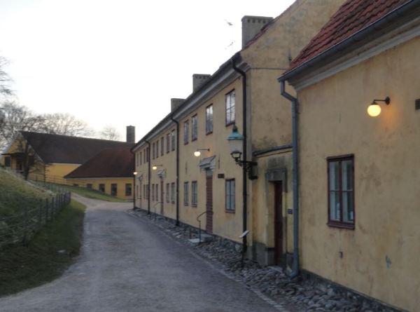 Las barracas amarillas de la Citadelle.  Landskrona. Foto R.Puig