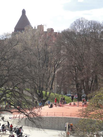 Museo Sven Harrys. El parque desde la terraza. Estocolmo. Foto R.Puig