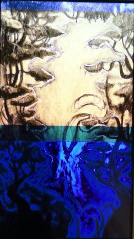 Nathalie Djuberg y Hans Berg. Variaciones de una cascada. Flautas. HD Video. b. 2015. Lissom Gallery y los artistas. Art Now. Museo Sven Harrys. Foto R.Puig.JPG