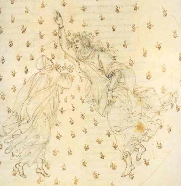 Botticelli. Paradiso VI. Dettaglio.Museos Estatales de Berlin