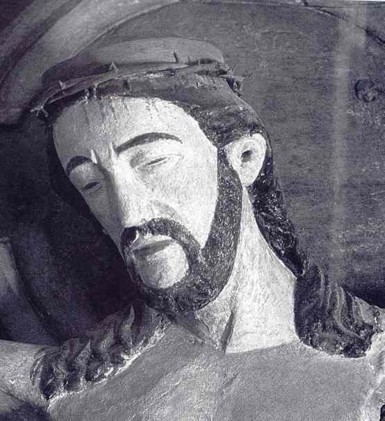 Rostro de Cristo crucificado. Iglesia de Fide; Gotland. Artista danés. c.1250. Fuente Joanna Wolska