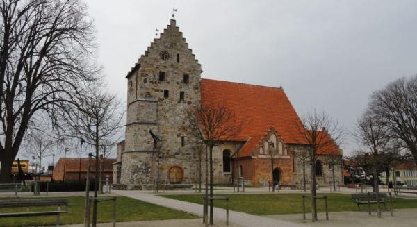 Simrishamn. La plaza de la iglesia. Foto R.Puig