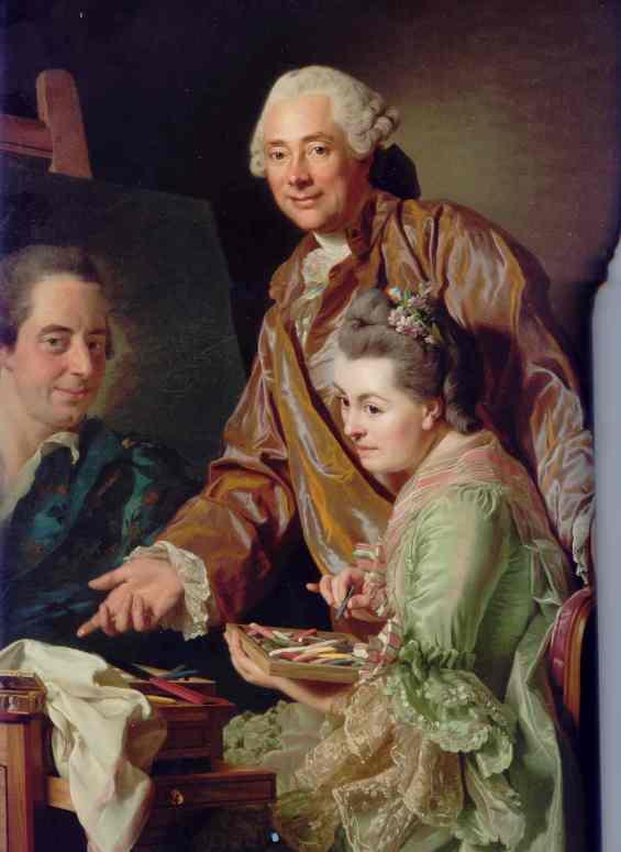 Alexander Roslin. El Artista y su mujer retratando a Henrik Wilhem Peill. 1767.Museo Nacional. Estocolmo