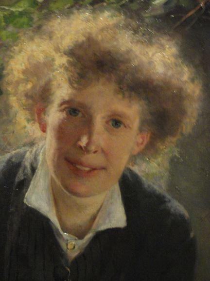 Bertha Wegmann. La artista Jeanna Bauck. 1881. Detalle. Museo Nacional. Estocolmo. Foto R.Puig