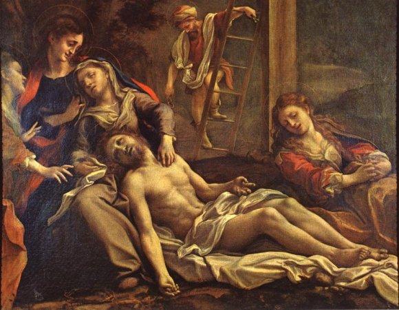 Correggio. Descendimiento. Galería Nacional de Parma.