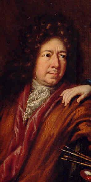 David Klöcker Ehrenstrahl. Autorretrato 1691. Detalle. Museo Nacional. Estocolmo.