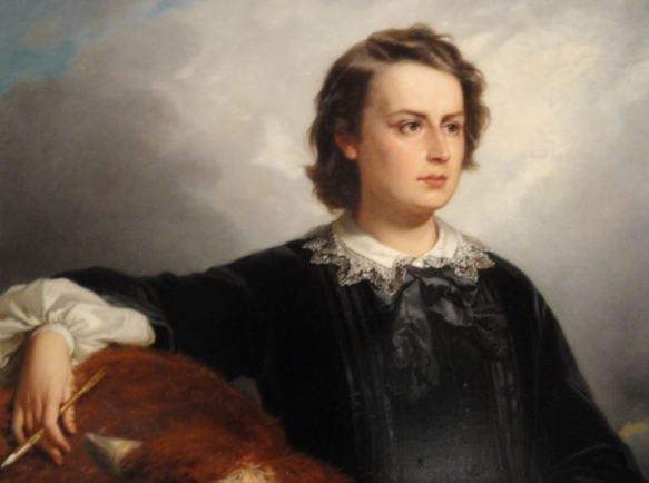 Edouard Dubufe. La artista Rosa Bonheur. 1857.Detalle. Museo Nacional de Versalles. Estocolmo. Foto R.Puig