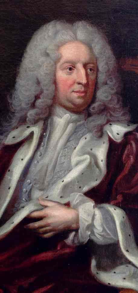 George Engeldhardt Schöder. Retrato de Nicodemus Tessin. c.1720.Detalle. Real Academia de Bellas Artes. Estocolmo.