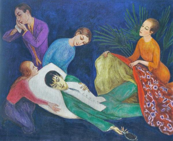 Nils Dardel. La muerte del dandy. 1918