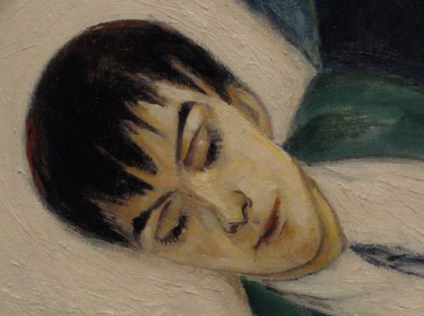 Nils Dardel. La muerte del dandy. Detalle. 1918. Museo Nacional. Estocolmo. Foto R.Puig