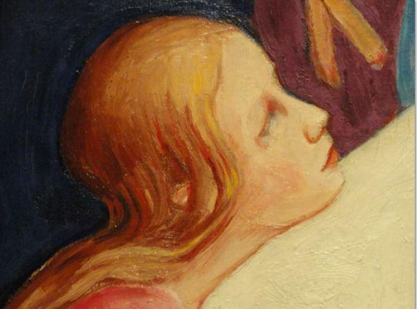 Nils Dardel. La muerte del dandy. Detalle. 1918. Museo Nacional. Estocolmo. Foto R.Puig.