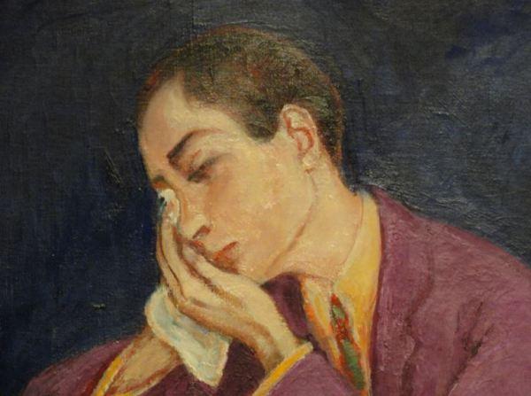 Nils Dardel.  La muerte del dandy.Detalle. 1918. Museo Nacional. Estocolmo. Foto R.Puig