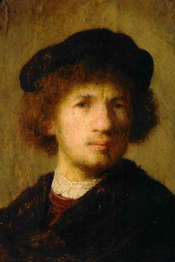 Rembrandt. Autorretrato. 1630. Museo Nacional.Estocolmo.
