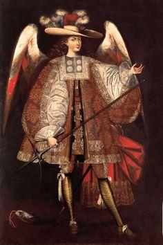 El arcángel San Miguel. Escuela cuzqueña ss.XVII a XVIII. Museo Pedro de Osma.
