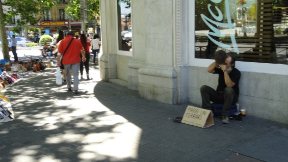 Mendigando con chunga. Foto R.Puig