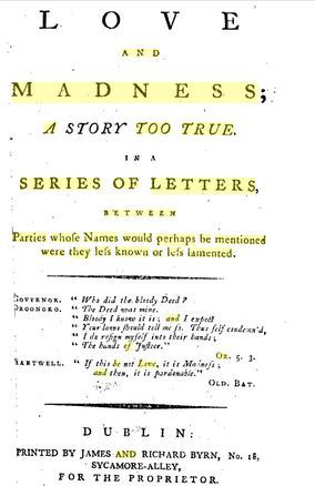 Portada de Love and Madness. Google Books