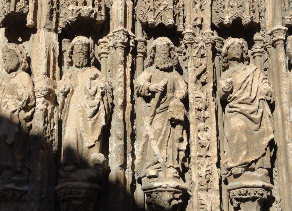 Requena. Del pórtico de Santa María. Foto R.Puig