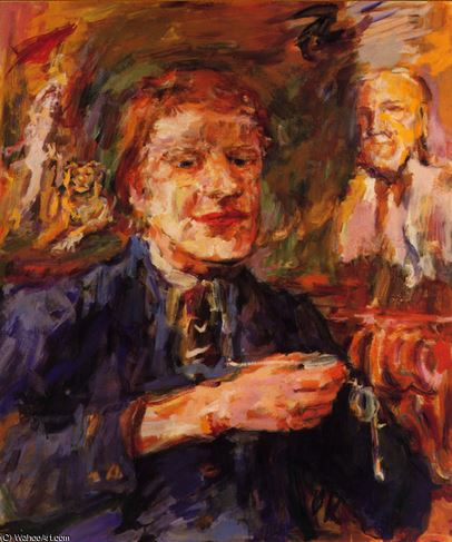 Retrato de Michael Croft por Kokoschka. Croft Castle. Foto National Trust