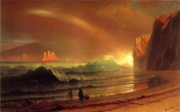 Albert Bierstadt. 1900. The Golden Gate. U.S. Public domain