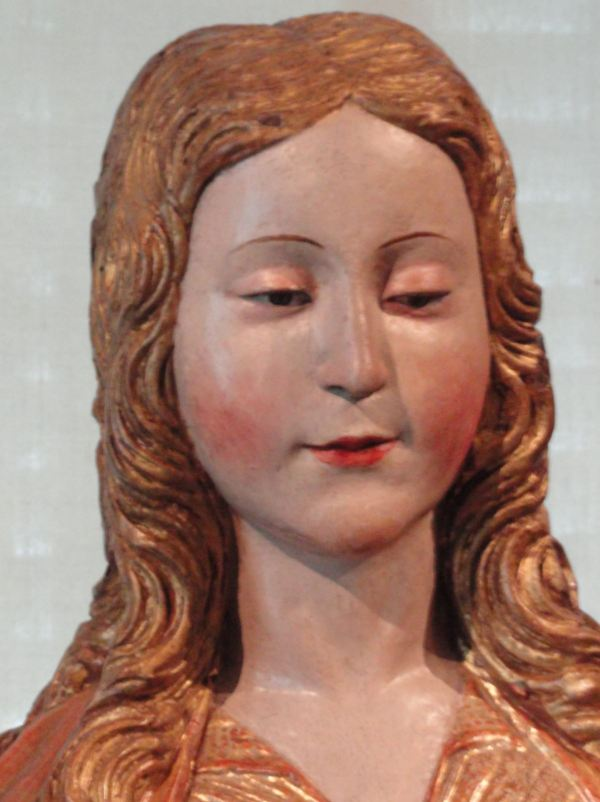 Escuela Castellana del s.XVI. La Virgen con el niño. Detalle. Museo Lázaro Galdiano. Madrid. Foto R.Puig