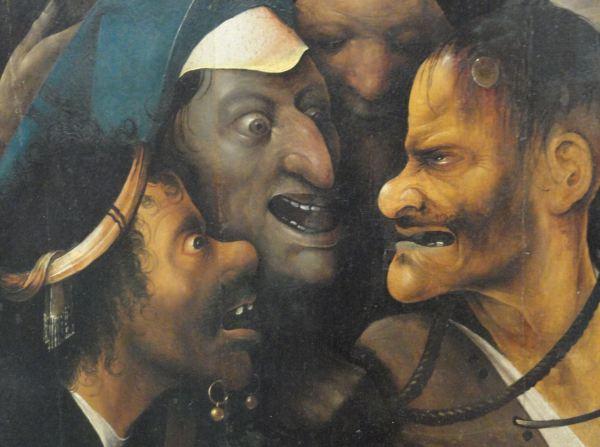 El Bosco. Jesús con la cruz a cuestas. Detalle. ca. 1516. Museo de Bellas Artes. Gante. Foto R.Puig