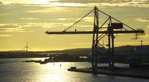 Flanqueando el puerto de Gotemburgo. Foto R. Puig