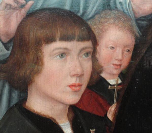 Gerhard Horenbout. Dos hijos de la familia Von Pottelsberghe. Foto R.Puig