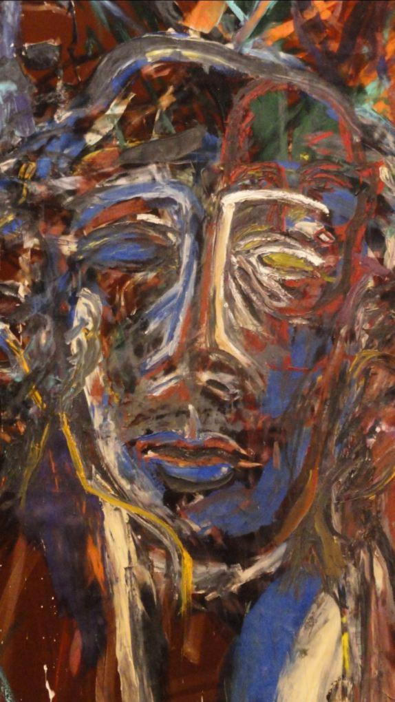 La muerte inesperada de Blinky Palermo en el trópico. Julian Schnable. 1981. Detalle. Foto R.Puig