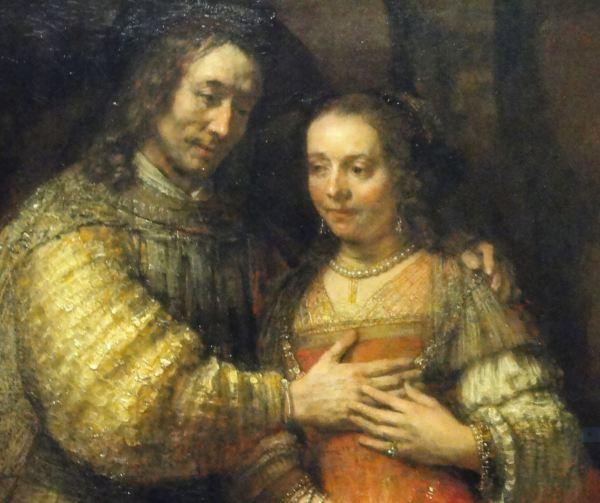 """""""La novia judía"""". Rembrandt. Detalle. Rijksmuseum. Amsterdam. Foto R.Puig"""
