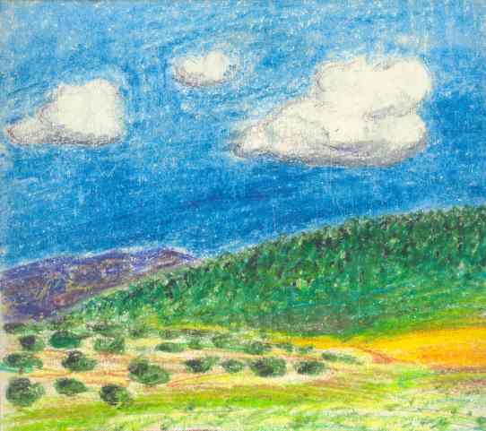 El tierras de Salamanca. Lápiz. Dibujo R.Puig 1974. Detalle