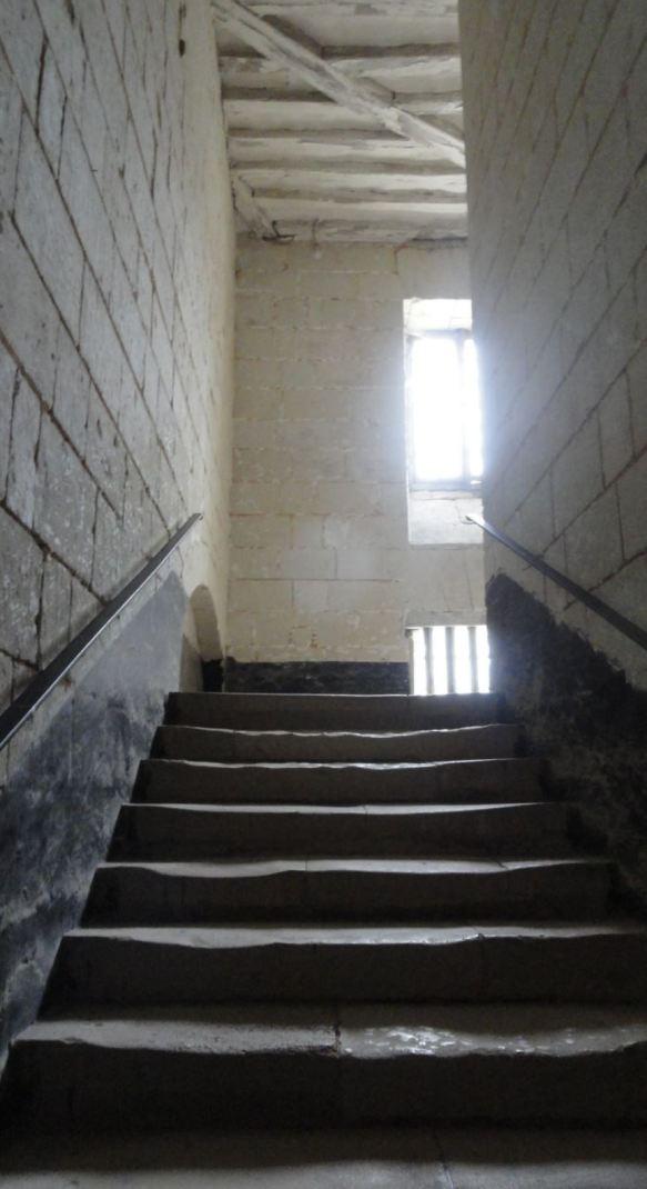 La Abadía de Fontevraud. Escaleras carcelarias. Foto R.Puig