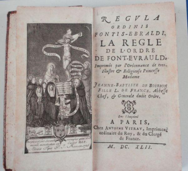 La Regla de la Orden de Fontevraud en 1642