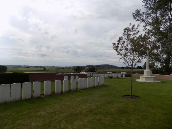 Cementerio militar británico de Wytschaete. Foto CWGC