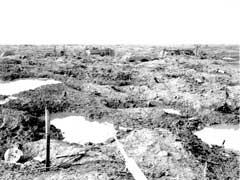 Cerca de Menin Road en el frente de Ypres