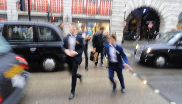 Con prisas en Regent´s Street. Foto R.Puig