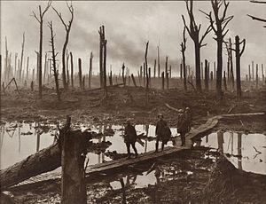 En la batalla de Passchendaele, Frente de Ypres. Fuente WGC