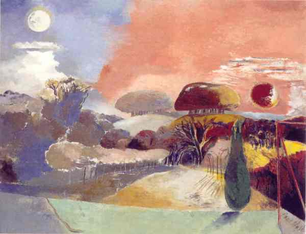 Landscape of the Vernal Equinox. Paul Nash 1944. Scottish National Gallery of Modern Art.