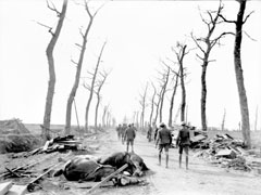 Menin Road en el frente de Ypres. Fuente Gobierno australiano