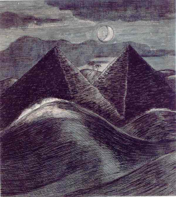 The Pyramids on the sea. Paul Nash 1912. Tate. London